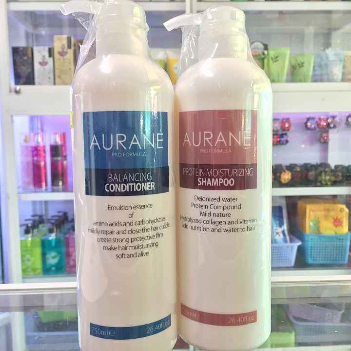 Bộ dầu gội dành cho tóc hư, khô gẫy, chẻ ngọn aurane