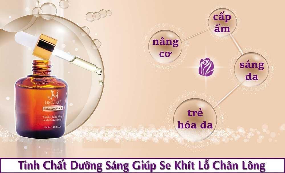 Serum dưỡng trắng sáng da đều màu, Giúp nâng cơ, cấp ẩm se khít lỗ chân lông