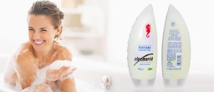 Sữa tắm cá ngựa Algemarin Perfume 300ml được chiết xuất từ các loài hoa và vitamin thiên nhiên